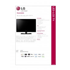 LG 19LE3300 LCD TV 19 inch