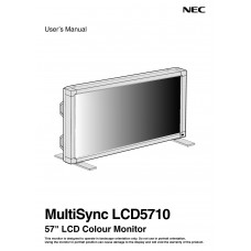NEC MultiSync LCD5710 LCD panel (without a tuner) 57 inch