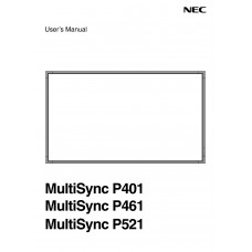 NEC MultiSync P521 LCD panel (without a tuner) 52 inch