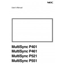 NEC MultiSync P551 LCD panel (without a tuner) 55 inch