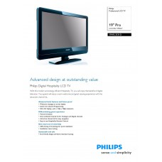 Philips 19HFL3331D LCD TV 19 inch