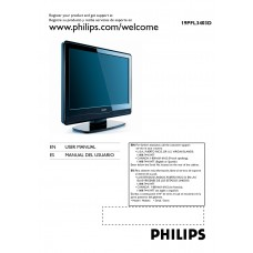 Philips 19PFL3403D LCD TV 19 inch