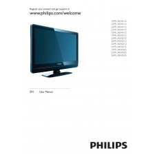 Philips 19PFL3404H LCD TV 19 inch